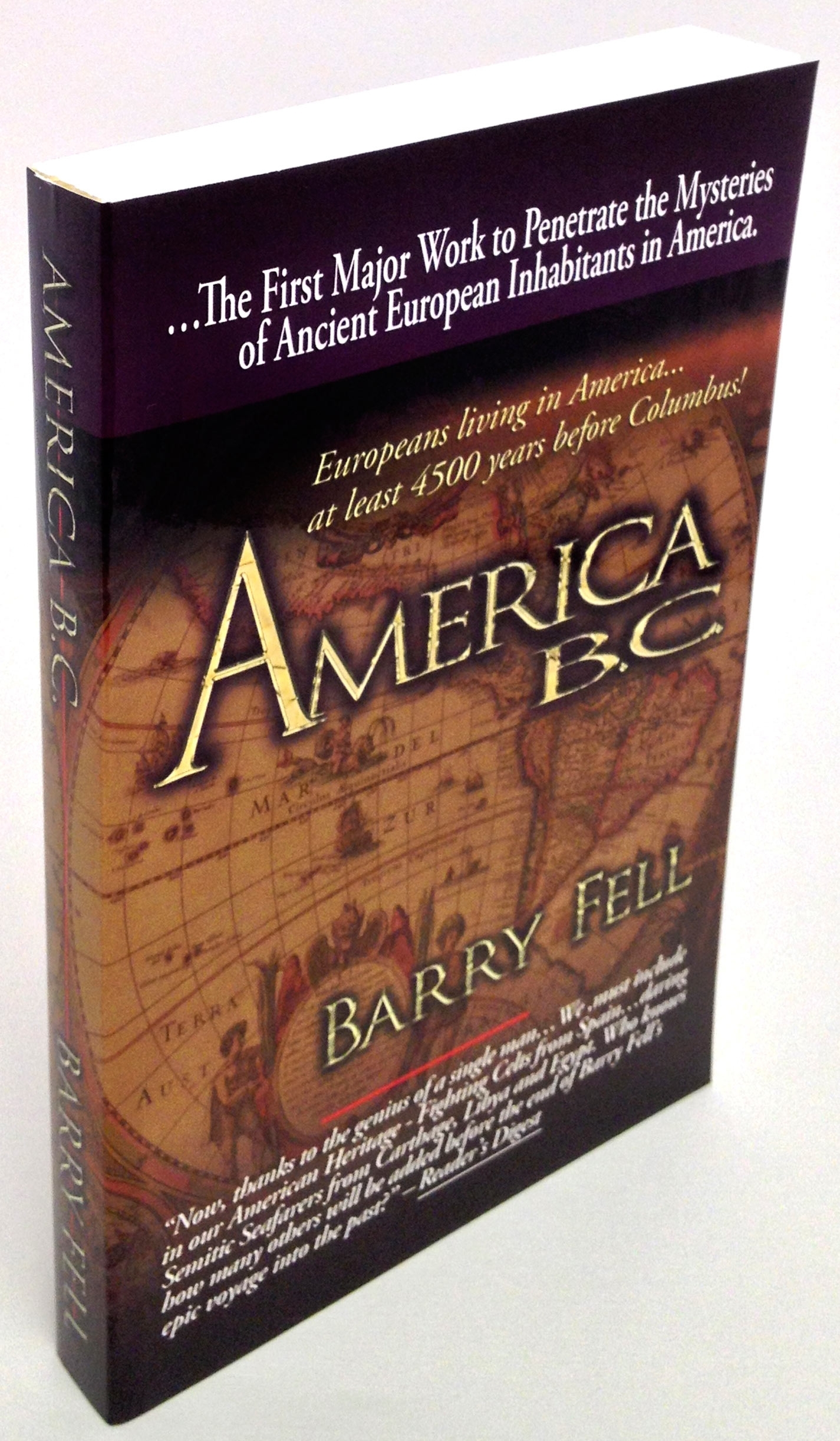 America B.C. [Barry Fell]  Ancient Settlers in the New World, ...THE Book that Started it All.. the PreColumbian Debate.
