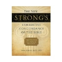 THE NEW STRONG'S EXHAUSTIVE CONCORDANCE OF THE BIBLE (LARGE PRINT & FAN TAB!)