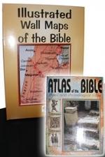 Illustrated Wall Maps of the Bible.  Atlas of the Bible - FREE with each Set! [Rare...Direct from Israel]