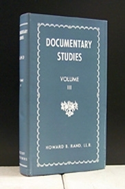 Documentary Studies Vol. lll