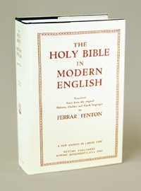 Ferrar Fenton Bible... Hardbound (shown) or Leather